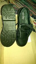 Footsure CENTEK   BLACK LEATHER Steel Toe Safety work Shoes SIZE 3 AIR RELAX