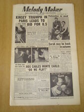 MELODY MAKER 1954 JUNE 12 TONY KINSEY TRIO SARAH VAUGHAN EDMUNDO ROS STAN KENTON