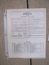 1938 Elto Pal Outboard Parts List 4263 Evinrude MORE BOAT BOOKS IN OUR STORE  L