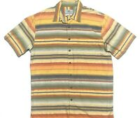Territory Ahead Mens XLT Vtg Short Sleeve Button Up Multicolor Striped Shirt EUC