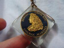 Depuis Louis XIV COGNAC MARTELL  Keychain Vintage OLD PLASTIC France
