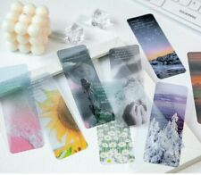 New listing Supply Stationery PET Paper Reading Book mark Dusk Flower Forest moon Bookmark