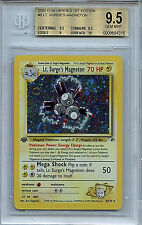 Lt. Surge's Magneton #8 Gym Heros 1st Edition BGS 9.5 Gem Mint Holo Pokemon Card