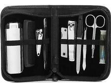 Perry Ellis Portfolio 10 Pezzi Kit per la cura da uomo con custodia in pelle Nuovo in Scatola