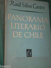 Panorama Literario de CHILE Raul Silva Castro IN SPANISH Literature Poema Novela