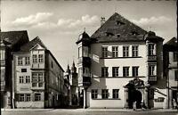Bayreuth Bayern alte Ansichtskarte ~1950/60 Blick in die Brautgasse mit Rathaus