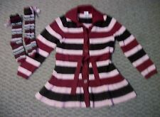 GYMBOREE SWEET TREATS CHOCOLATE TOP & RED CORDUROY BOW PANTS GIRLS SZ 5 PLUS 6
