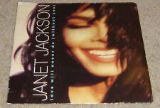 """JANET JACKSON LOVE WILL NEVER DO sans vous Unique 7"""" - VVG"""