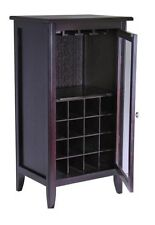 Winsome Wood Wine Cabinet Storage Hang Rack Bottles Furniture Drink Cart Tray