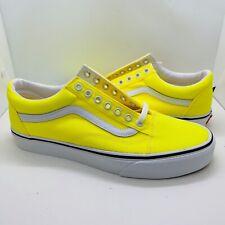 Vans Old Skool Neon Yellow/White Men/Women Skateboarding Shoes VN0A4U3BWT5
