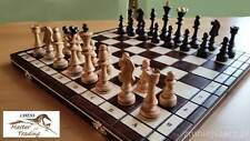LARGE ''OLYMPIC'' CHERRY WOODEN CHESS SET 40x40!!! STUNNING LOOK !!!