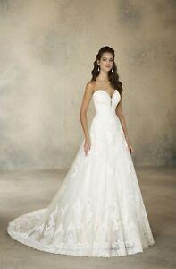 Mori Lee 2076 Size 14 GENUINE Ivory Wedding Dress Ivory With tags