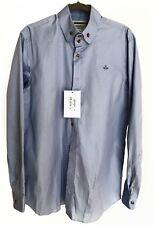 Genuine VIVIENNE WESTWOOD Men's Formal Shirt, Blue, size Large / 52