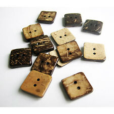 Coconut buttons Square 17mm