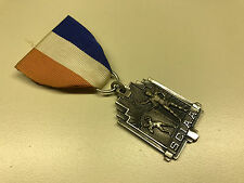 Old Vtg 1964 SCIAA 2nd Place Medal Trophy Award Ribbon Pin Jewelry SHOT PUT