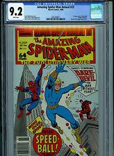 Amazing Spider-man Annual  #22 CGC 9.2 NM- 1988 1st Speedball  Amricons K24