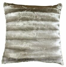 Grey / Silver Faux Mink Fur Faux Fur 18 Inch Super Soft Cushion Cover