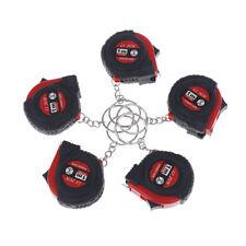 Retractable Ruler Tape Measure Key Chain Mini Pocket Size Metric 1m/3.28Ft/3PLCA
