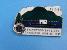 LIONS CLUB CANADA BRENTWOOD BAY BOAT SHIP VINTAGE HAT LAPEL PIN SOUVENIR COLLECT