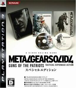 PS3 Metal Gear Solid 4:Guns of the Patriots Special Edition F/S w/Tracking# NEW