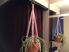 Macrame Plant Hanger PINK Made in USA 40inch
