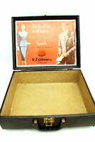 Mid Century VTG Suitcase Luggage W.Z. Gibson Tailor Chicago Advertising Sample?