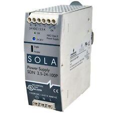 SDN2.5-24-100P Sola 2.5A 115/230VAC 24VDC w/ PF correction  Power Supply-SA