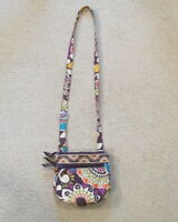 Vera Bradley Mini Crossbody Hipster Handbag / Purse