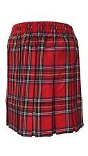 Girls Childs Box Plated Tartan Check Skirt Fancy School Uniform Party Accessory