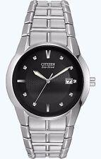 Citizen Eco-Drive Men's BM6670-56E Black Dial Stainless Steel Bracelet Watch