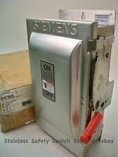 Siemens Stainless HNF362S 60a 600v 3ph NON-FUSED Safety Switch 5 Available New