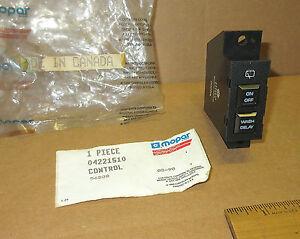 Mopar 1985 86 87 88 Chrysler LeBaron GTS rear wiper & washer control 4221510 NOS