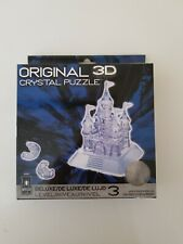 Bepuzzled Original 3D Crystal Puzzle Deluxe - Castle, Clear New sealed.