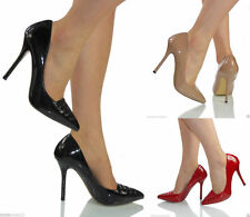 High Heel (3-4.5 in.) Unbranded Women's Patent Leather