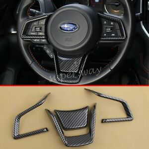 Carbon Fiber Steering Wheel Cover Trim FOR Subaru Forester SK XV Impreza Outback