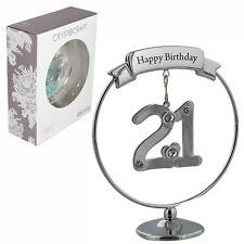 Crystocraft Felice 21st COMPLEANNO CAKE TOPPER/Regalo-Numero & Swarovski