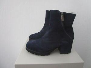 Gadea Wildleder Stiefelette Ankle Boots blau Gr.37 NEU