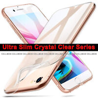 CLEAR SHOCKPROOF CASE - iPhone 8 PLUS & 7 PLUS Ultra Thin Silicone GEL TPU Cover