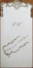Menu: French 1918 w/Wine - Clos de Bourg 1904, Moet et Chandon Champagne