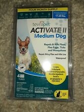 TevraPet Activate ll Medium Dog 4 ct. Flea and Tick Topical 11 - 20 lbs.