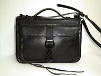 Rebecca Minkoff Black Leather Crossbody Shoulder Bag Flap Purse - $265
