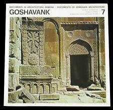 BOOK Armenian Ancient Architecture GOSHAVANK medieval monastery stone carving