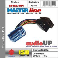 CONNETTORE ISO RADIO ORIGINALE PER SUZUKI SWIFT. ADATTATORE AUTORADIO