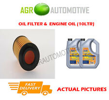 PETROL OIL FILTER + LL 5W30 ENGINE OIL FOR MERCEDES-BENZ E350 3.5 292BHP 2009-