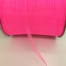 "10yds 1/4"" 6mm Satin Edge Sheer Organza Ribbon Bow Hair DIY Wedding Decoration"
