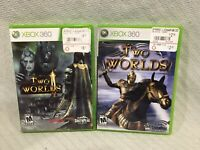 LOT OF 2 XBOX 360 SouthPeak GAMES, TWO WORLDS, AND TWO WORLDS 2 Rated M 17+