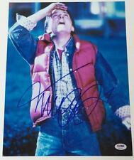 MICHAEL J. FOX Signed Back to the Future 11x14 PSA DNA X56762