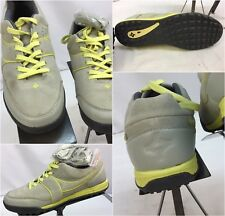 Kikkor Golf Shoes Sz 9.5 Women Gray Leather Yellow Worn Once YGI G7