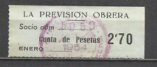 1800b-SELLO ESPAÑA CUOTA LA PREVISION OBRERA EN CATALAN Y CASTELLANO,1954