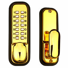 Mechanical Keypad Door Lock Digital Entry Home Code Password Keyless Gold